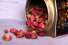 Herbal tea with rosebuds Stock Photography