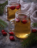 Herbal tea with rosehip. Selective focus Royalty Free Stock Photos