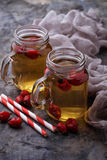 Herbal tea with rosehip. Selective focus Stock Photography