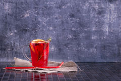 Herbal tea with rosemary and fruit and berries. Place for your t Stock Photography
