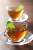 Herbal tea with sage leaf Royalty Free Stock Photography