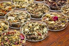 Herbal tea sampler collection Royalty Free Stock Image
