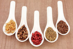 Herbal Tea Selection Royalty Free Stock Images