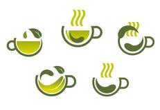 Herbal tea symbols Royalty Free Stock Photography