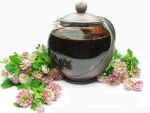 Herbal tea in teapot Royalty Free Stock Images