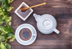 Herbal tea with teapot Royalty Free Stock Photography