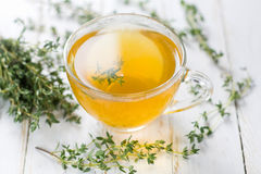 Herbal tea. Thyme Royalty Free Stock Photo