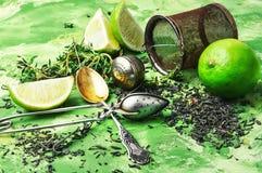 Herbal tea with thyme Stock Photos