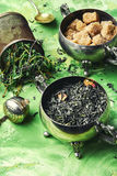Herbal tea with thyme Stock Image