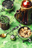 Herbal tea with thyme Stock Images