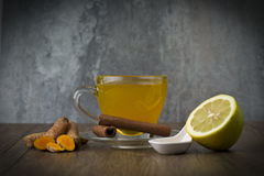 Herbal tea with turmeric royalty free stock photos