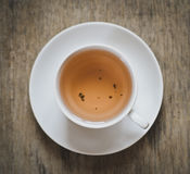 Herbal tea, view from above, top Royalty Free Stock Image