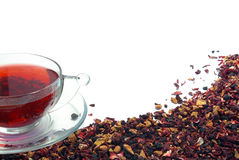 Herbal tea on white stock photography