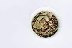 Herbal tea. In a white cup Stock Images