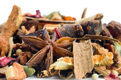 Free Herbal Tea With Leaves, Fruits And Herb Royalty Free Stock Photography - 22101427