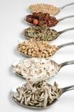 Herbal teas in a row Royalty Free Stock Photos