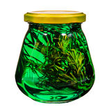 Herbal tincture in a glass jar. Stock Image
