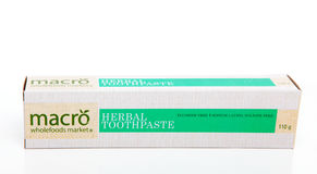 Herbal Toothpaste Stock Photography