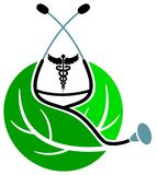 Herbal treatment logo Royalty Free Stock Photo
