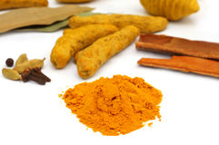 Herbal Turmeric stock photo