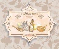 Herbal vintage banner Stock Image