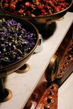 Herbalist balance. And flower dosage Stock Photography
