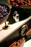Herbalist balance. And flower dosage Royalty Free Stock Images