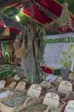 Herbalist market. In the city of Jaén stock images