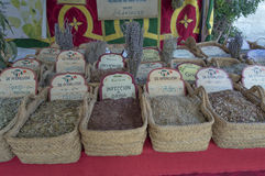 Herbalist market Royalty Free Stock Photography