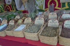 Herbalist market Royalty Free Stock Photos