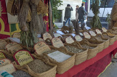 Herbalist market Royalty Free Stock Photo
