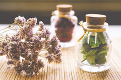 Herbalist products Royalty Free Stock Images