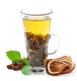 Herbata, cynamon i mennica, zdjęcia royalty free