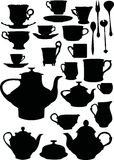 herbata dishware kawowa ilustracji