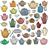 Herbata garnki Zdjęcie Stock