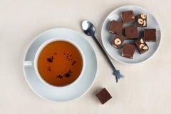 Herbata i czekolada Obrazy Royalty Free
