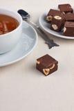 Herbata i czekolada Fotografia Royalty Free