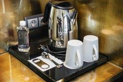 Herbata i kawa dla pokoju hotelowego Obraz Stock