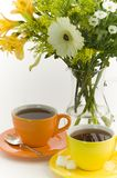Herbata i kwiaty Zdjęcie Stock