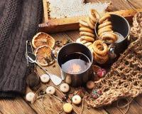Herbata i miód Zdjęcia Stock