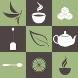 Herbata. Ikona set Fotografia Stock