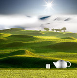 Herbata, kawa z ładnym backgroun/ zdjęcia stock