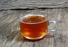 herbata na starym drewnianym stole Fotografia Royalty Free
