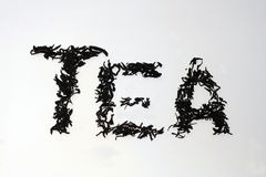 herbata słowo Obrazy Royalty Free