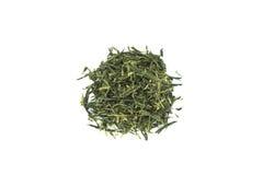 Herbata (Sencha) odizolowywająca na białym tle obraz royalty free