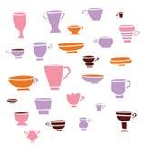 Herbata, set filiżanki Fotografia Stock