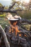 Herbata w górach Zdjęcia Royalty Free