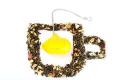 Herbata w kształcie szkło z podwodną herbacianą torbą Obraz Stock