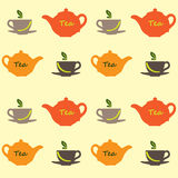 Herbata wzór Zdjęcie Stock