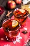 Herbata z cytryną i miodem na drewnianym tle Fotografia Royalty Free